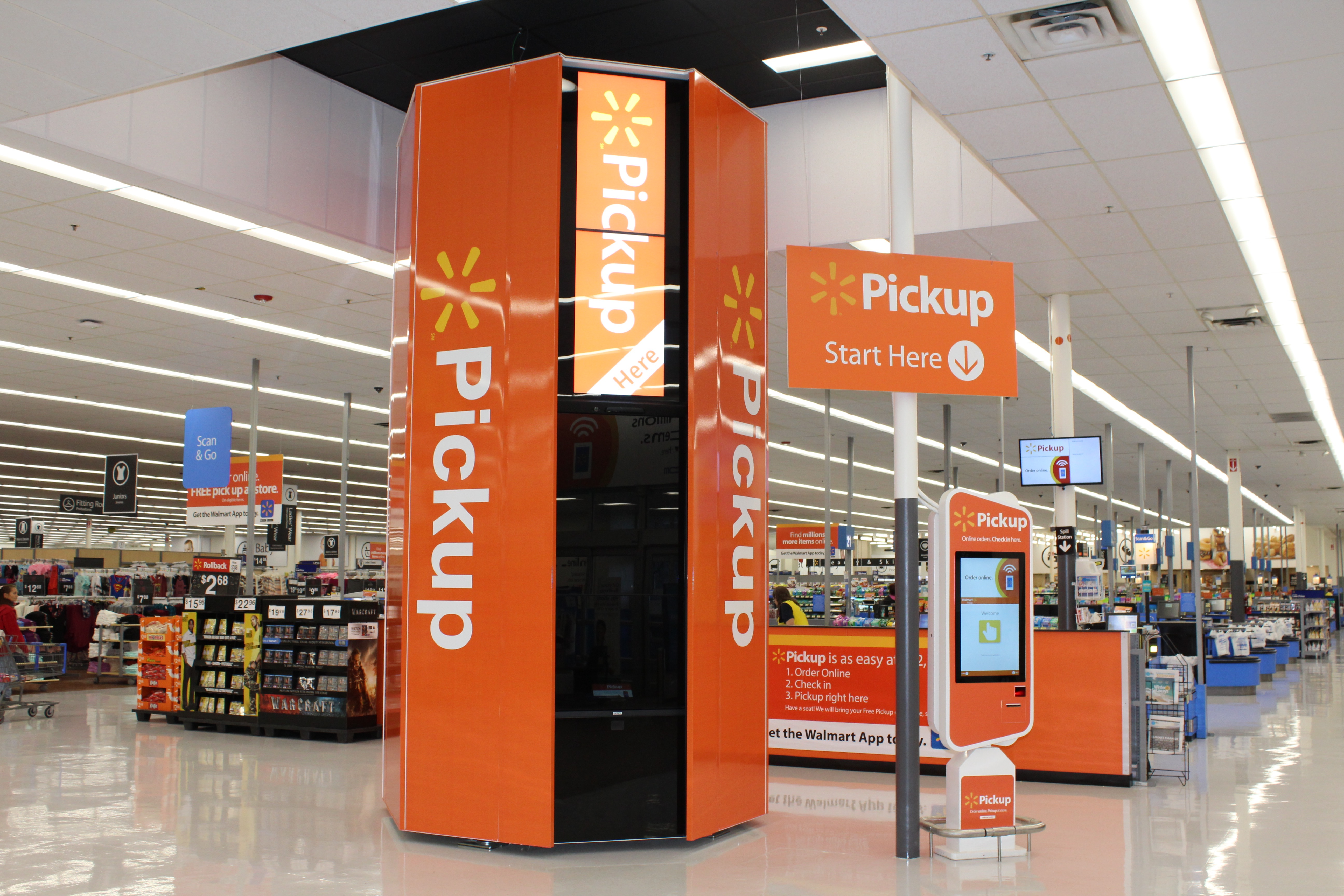 Consumers are responding to the convenience of Walmart pickup towers.