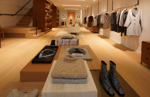 The entrance to Lafayette 148Õs new Madison Avenue store.