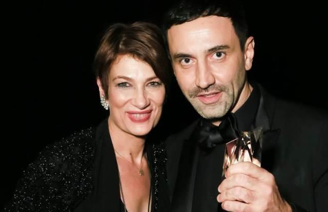 "Maryanne Grisz with Riccardo Tisci at FGI's ""Night of Stars."""