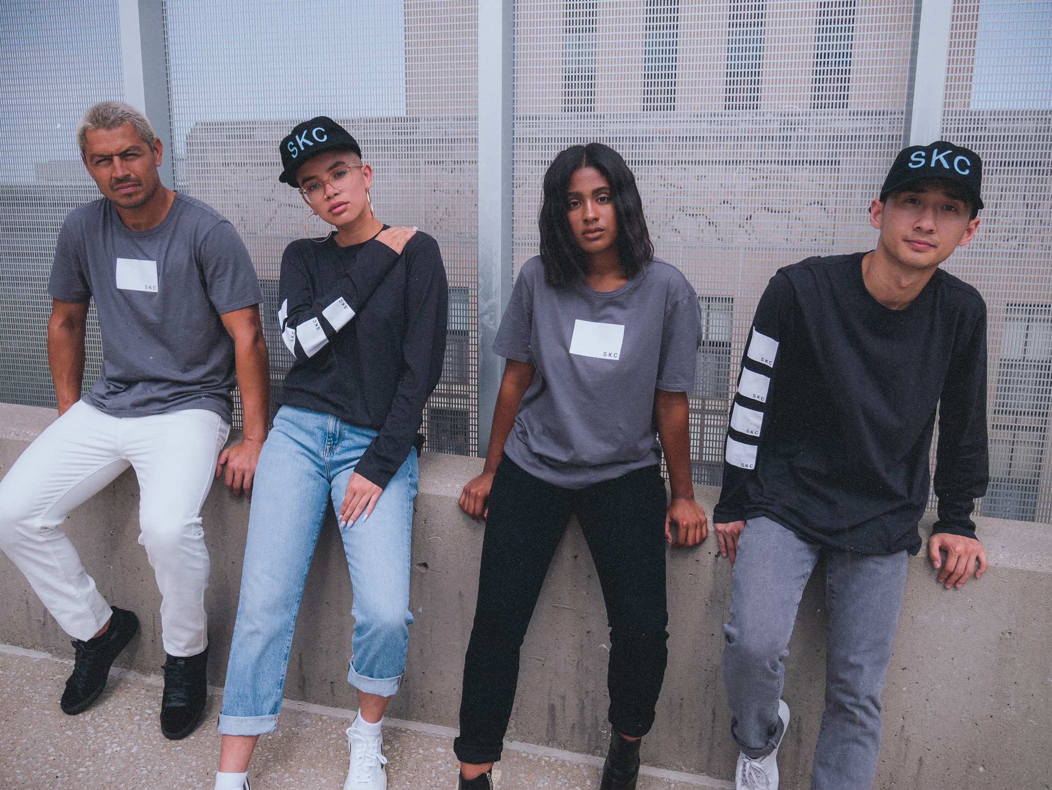 Apparel from the SKC X Bldwn fashion collaboration.