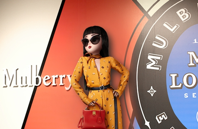 Noonoouri wearing Mulberry, part of a new promotional activity from Tmall's Luxury Pavilion.