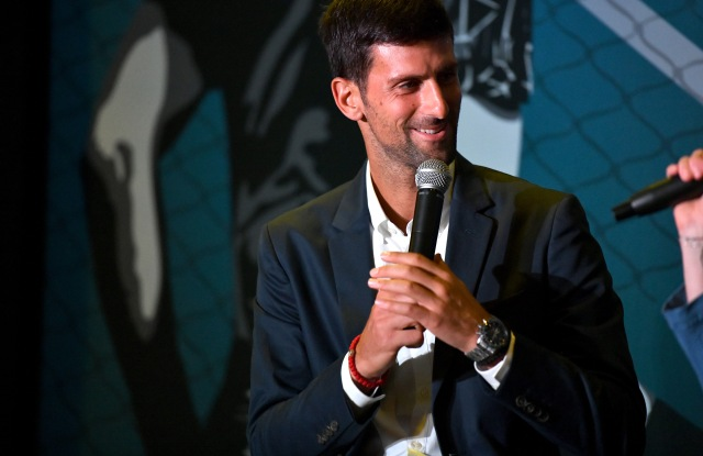 NEW YORK, NEW YORK - AUGUST 21: Montblanc launched a Novak Djokovic Special Edition writing instrument to benefit the Novak Djokovic Foundation on August 21, 2019 in New York City. (Photo by Craig Barritt/Getty Images for Montblanc)