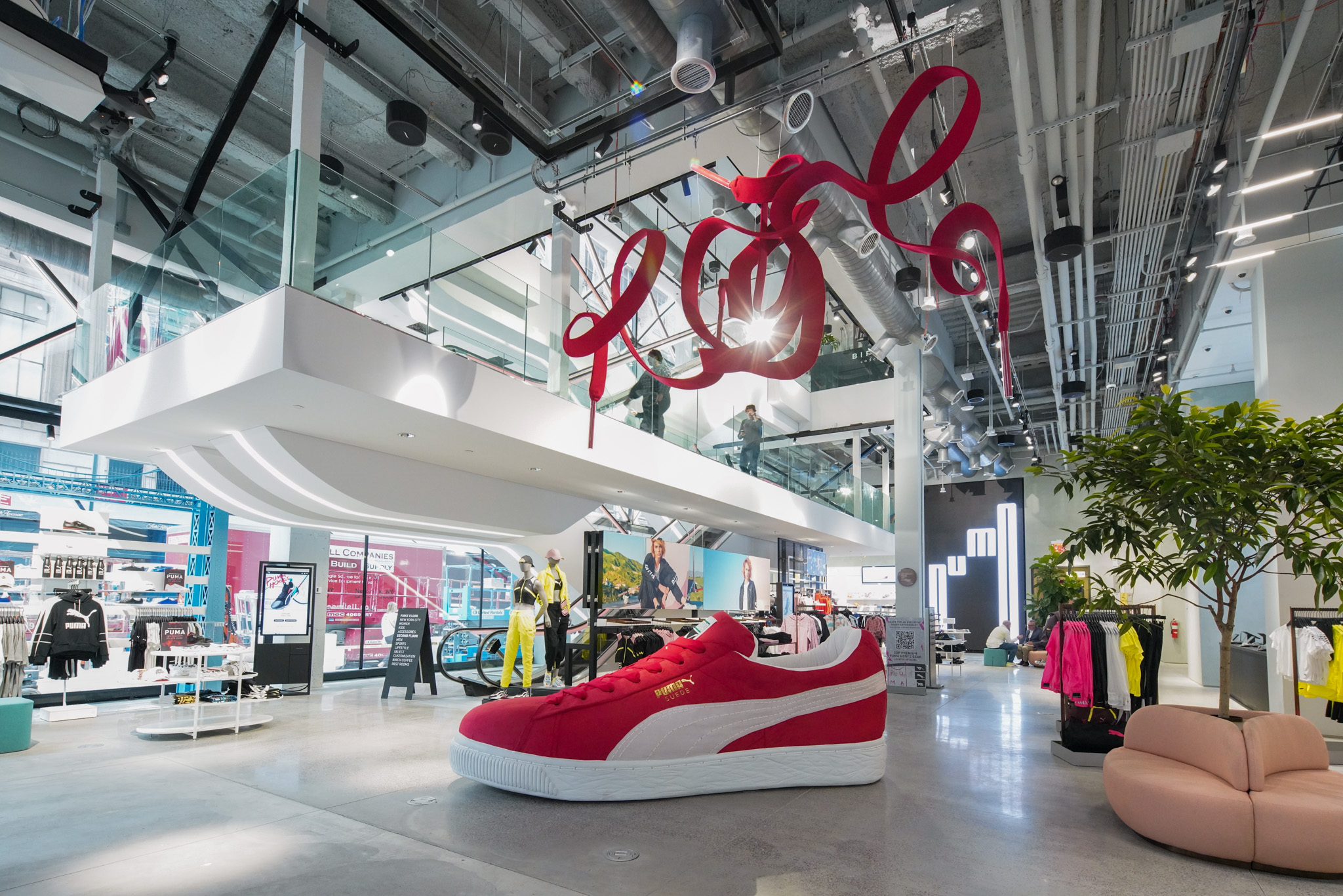 The first level of the Puma flagship.