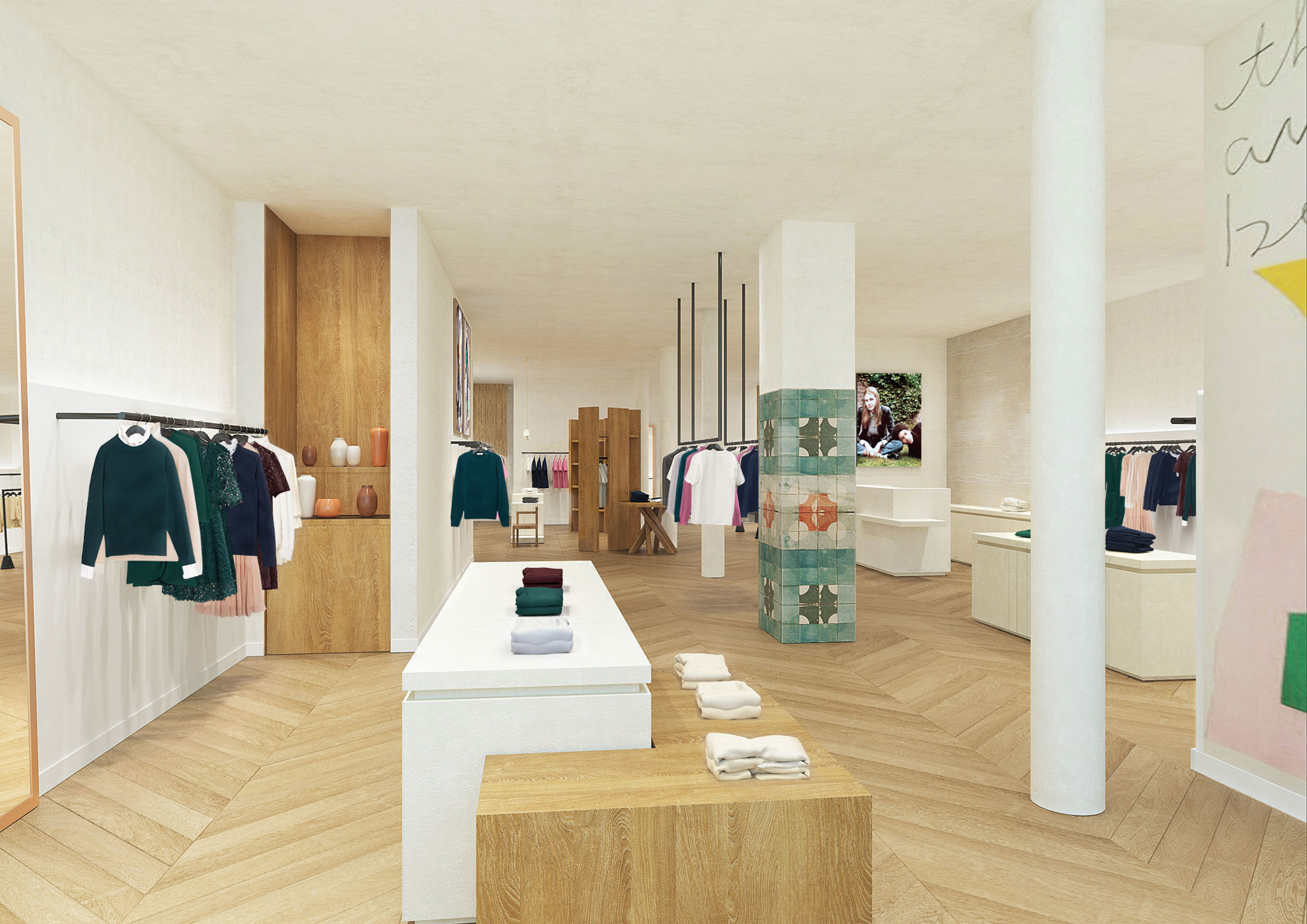 A rendering of Sandro's new U.S. flagship in SoHo.