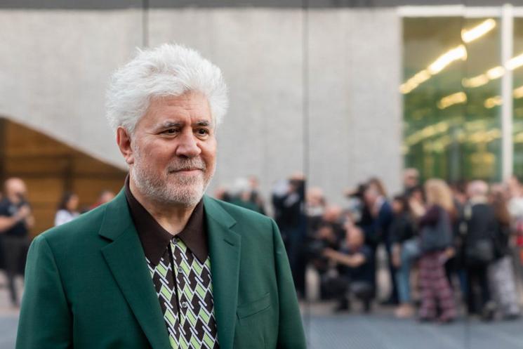 Spanish filmmaker Pedro Almodóvar at Fondazione Prada in Milan.