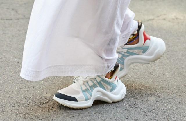 Louis Vuitton sneakers.