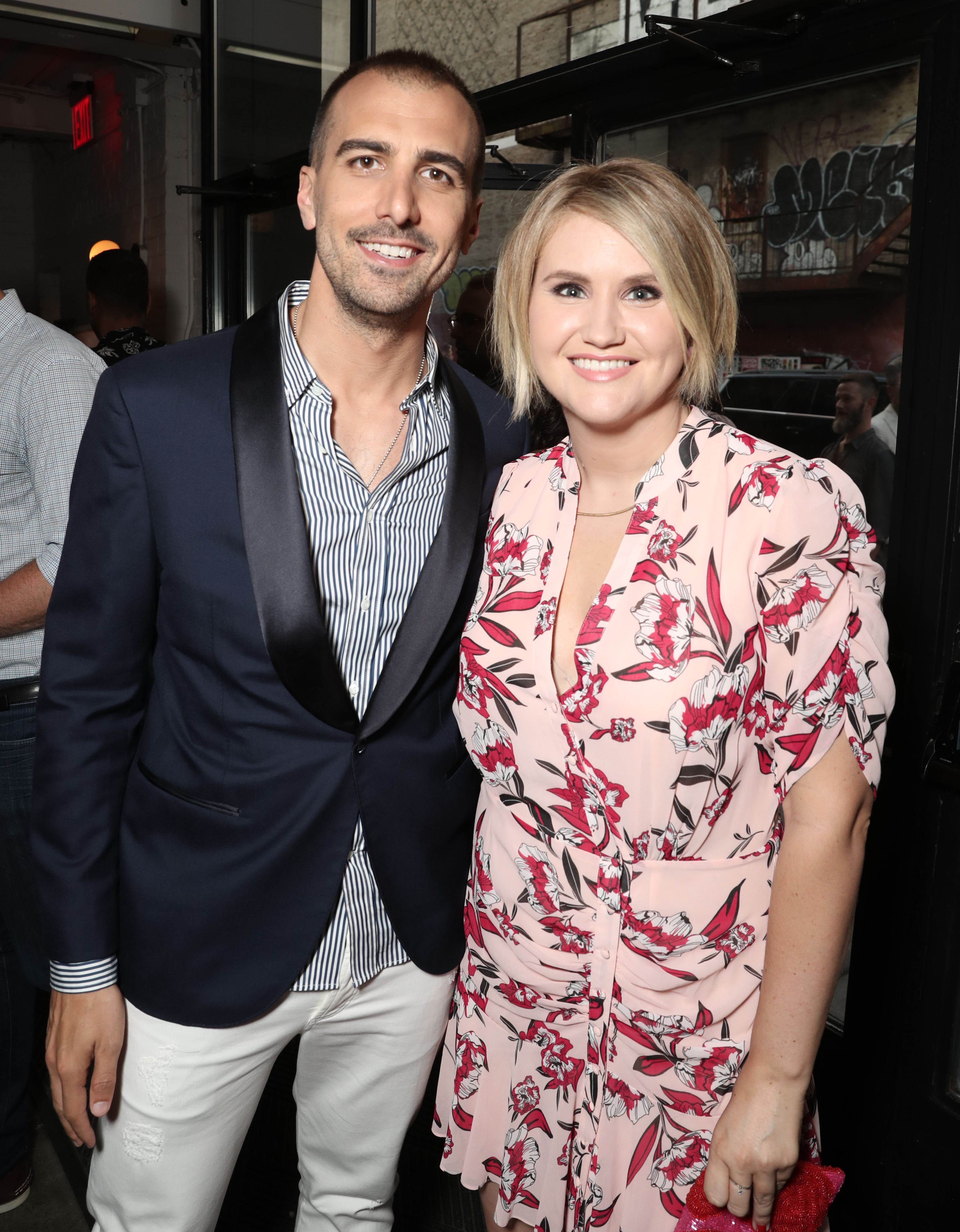 Paul Downs Colaizzo and Jillian Bell at a screening of the film at the Metrograph Theater in New York.