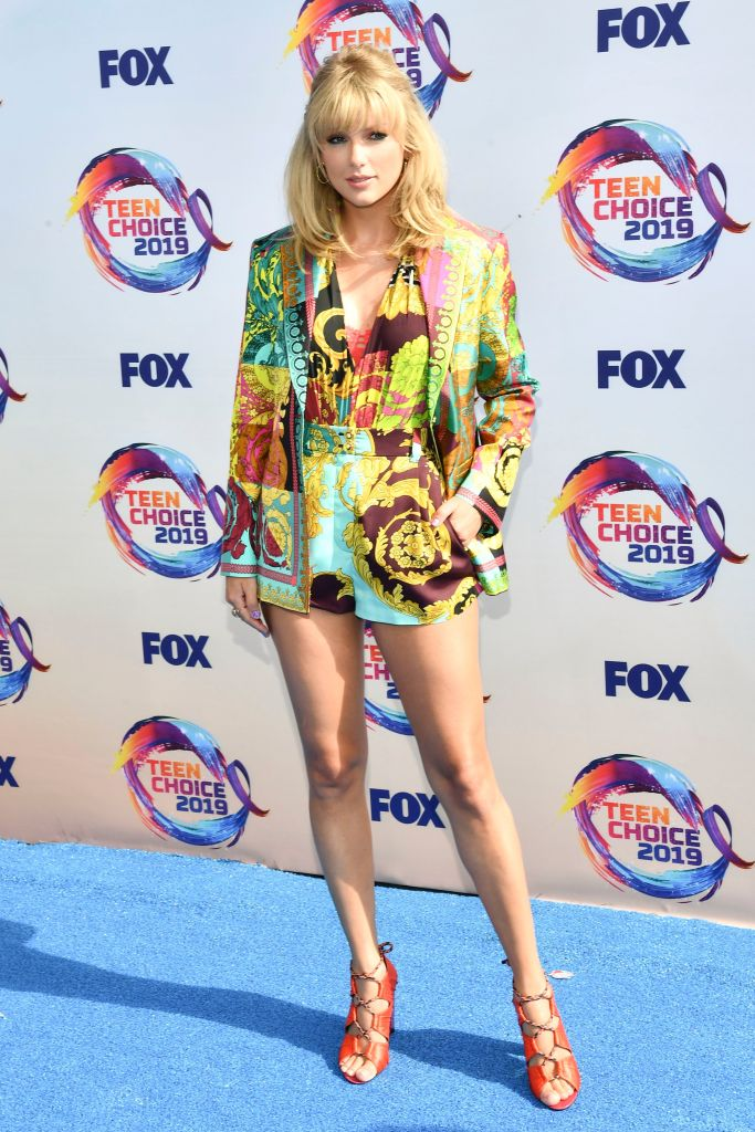 Taylor SwiftTeen Choice Awards, Arrivals, Los Angeles, USA - 11 Aug 2019Wearing Versace