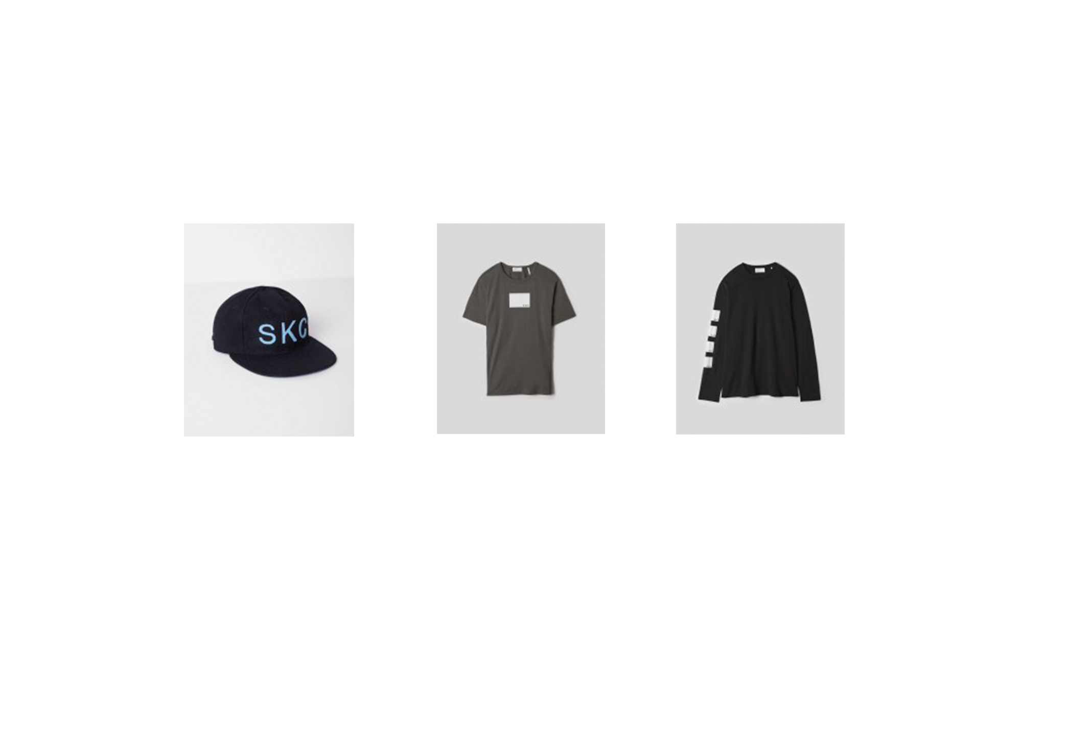 Items from the SKC x Bldwn fashion collaboration.