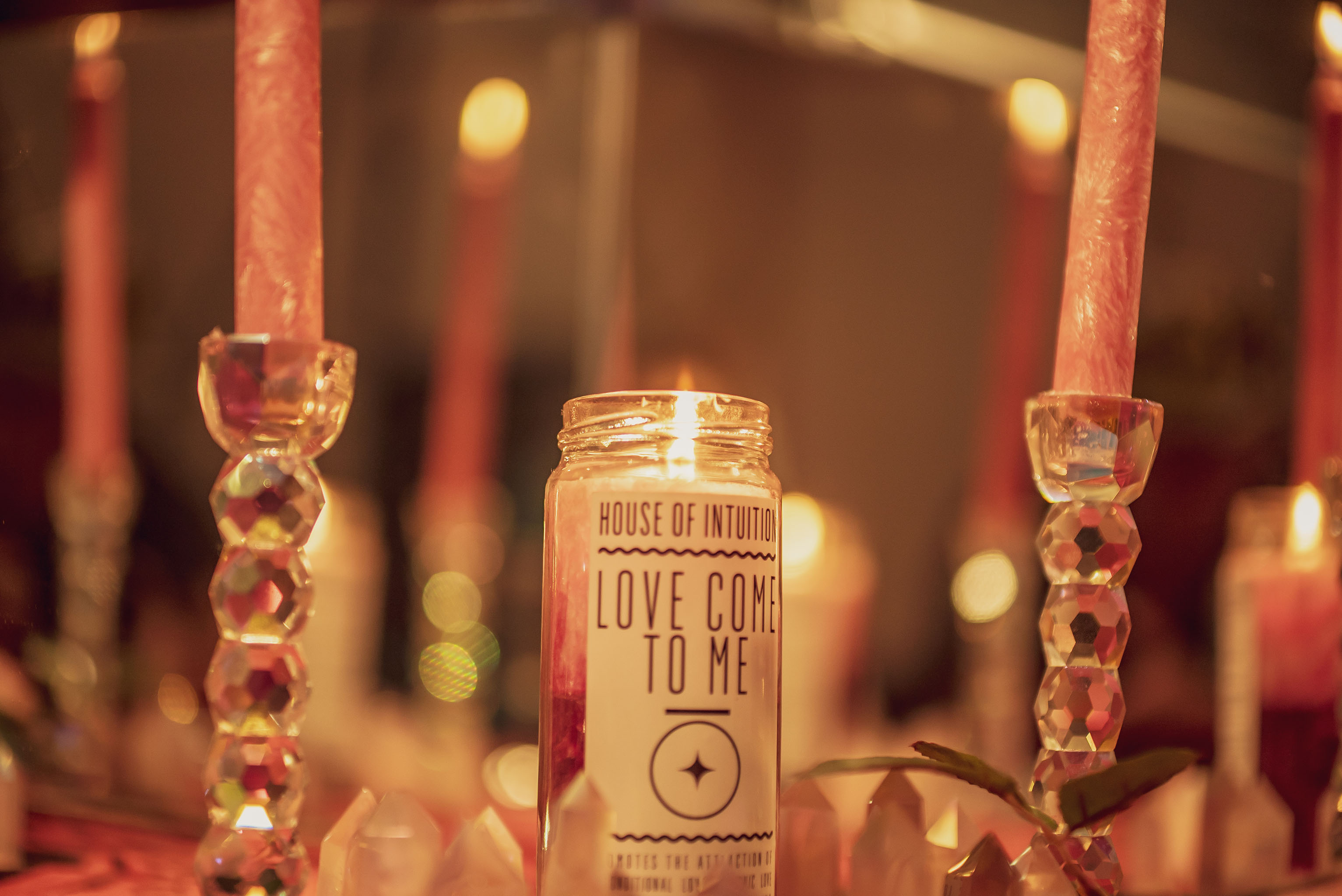 The House of Intuition unconditional love candle.