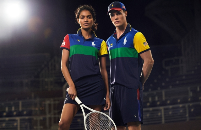 The Ball Person uniforms for the U.S. Open Tennis are made from recycled plastic.