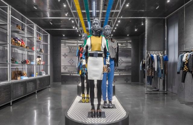 The Louis Vuitton pop-up at Ssense.