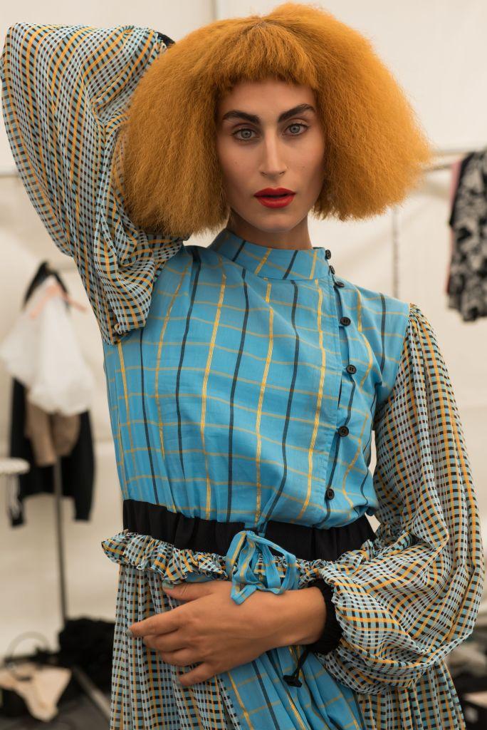 Model backstageStine Goya show, Backstage, Spring Summer 2020, Copenhagen Fashion Week, Denmark - 08 Aug 2019