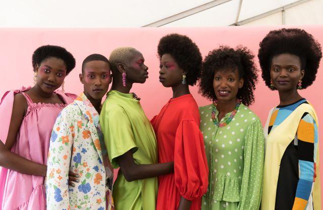 Models backstageStine Goya show, Backstage, Spring Summer 2020, Copenhagen Fashion Week, Denmark - 08 Aug 2019