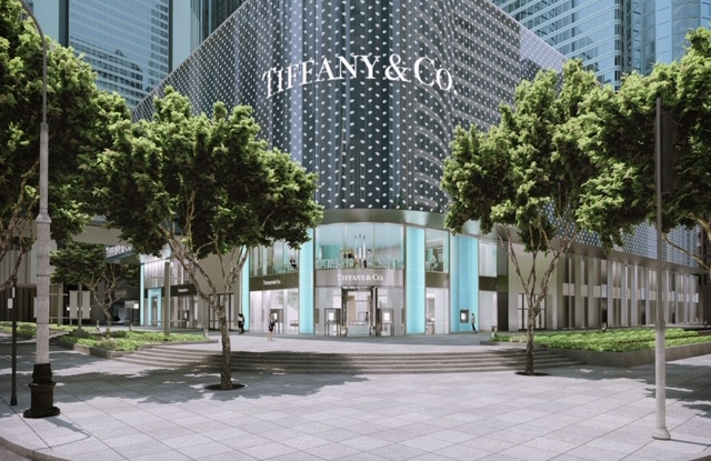 A rendering of Tiffany's new flagship Shanghai store.