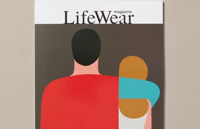 Uniqlo's first issue of its new magazine, LifeWear.