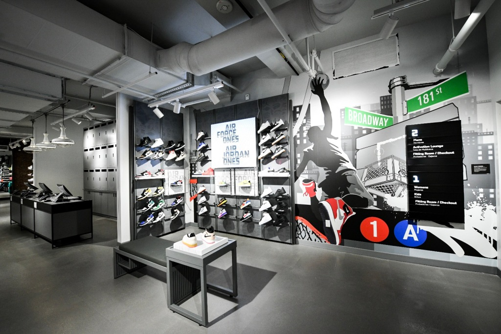 The interior of the Power Store features local references.