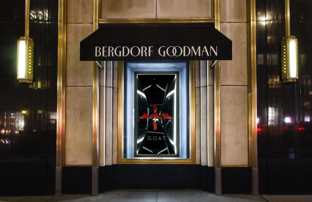 Bergdorf Goodman will partner with Goat on a sneaker installation.