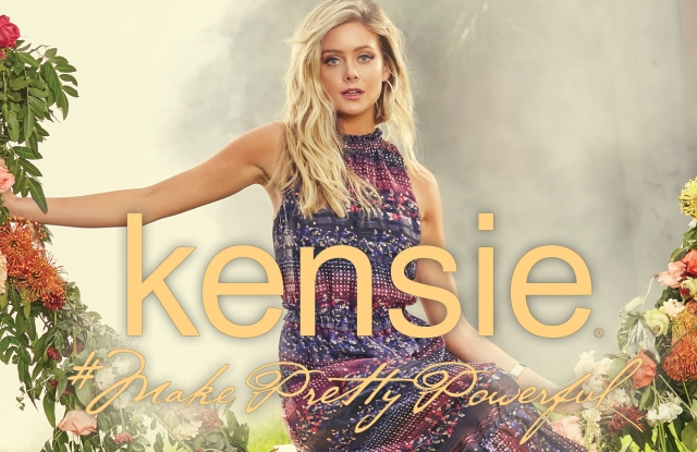 Hannah Godwin in the new Kensie campaign.