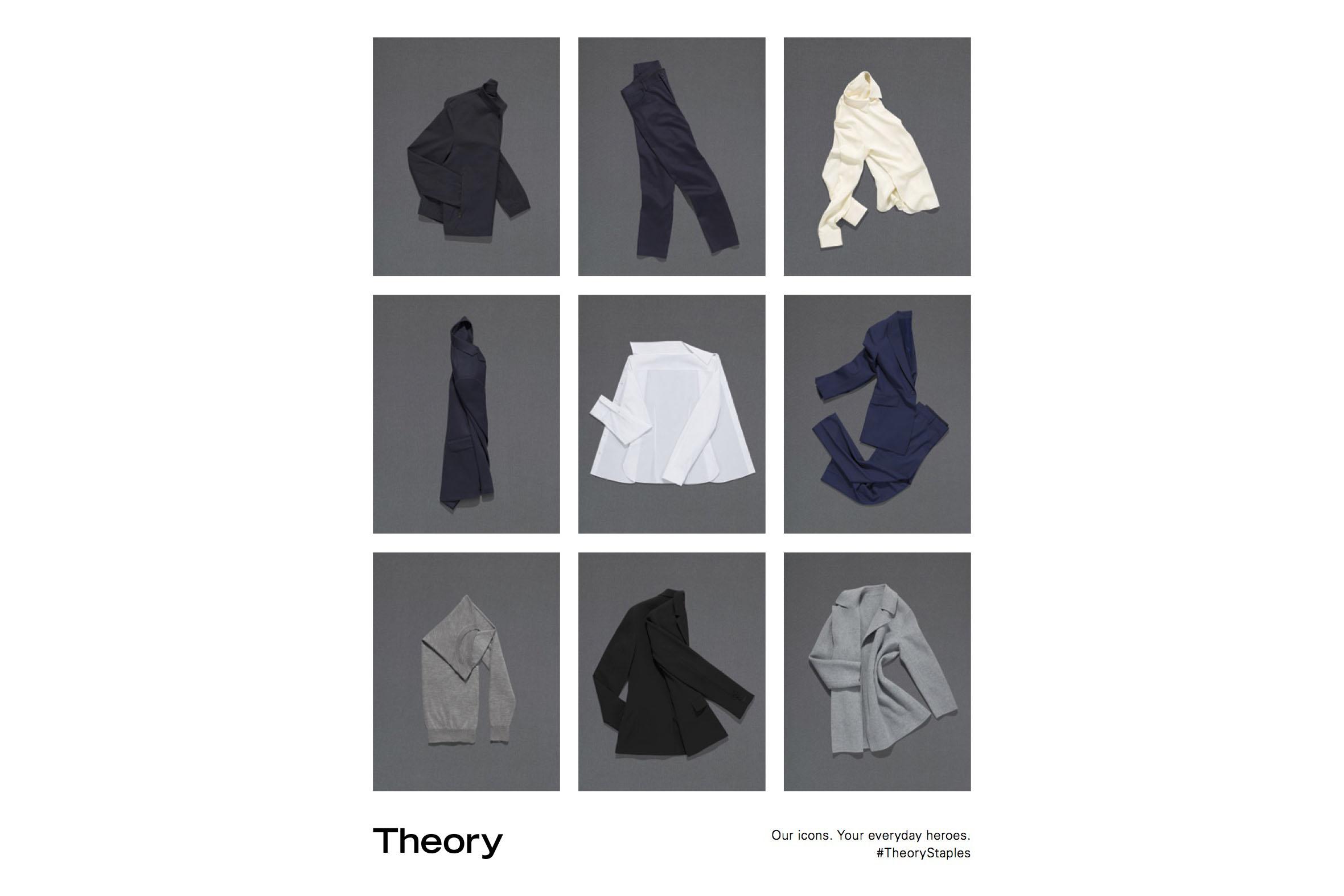 Theory Staple's ad image.