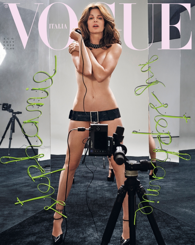 Stephanie Seymour on the cover of Vogue Italia.