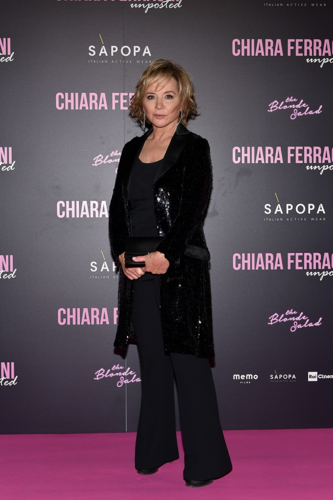 "Alberta Ferretti attends the ""Chiara Ferragni - Unposted"" documentary screening in Milan."