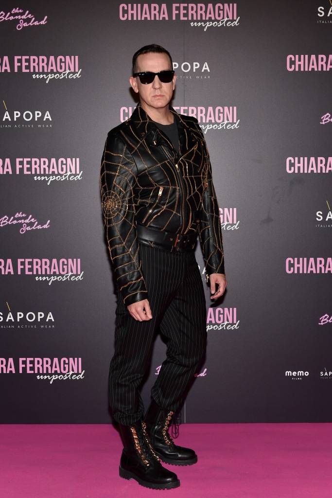 "Jeremy Scott attends the ""Chiara Ferragni - Unposted"" documentary screening in Milan."