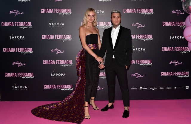 "Chiara Ferragni and Federico Lucia, known as Fedez, attend the ""Chiara Ferragni - Unposted"" documentary screening in Milan."