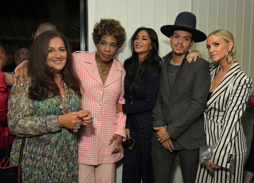 LOS ANGELES, CA - SEPTEMBER 28: Angela Missoni, Macy Gray, Nicole Scherzinger, Evan Ross and Ashlee Simpson attend Quincy Jones, Angela Missoni, Luca Missoni And Richard Christiansen Celebrate The Release Of Missoni: The Great Italian Fashion at Flamingo Estate on September 28, 2019 in Los Angeles, California. (Photo by Charley Gallay/Getty Images for Chandelier Creative)