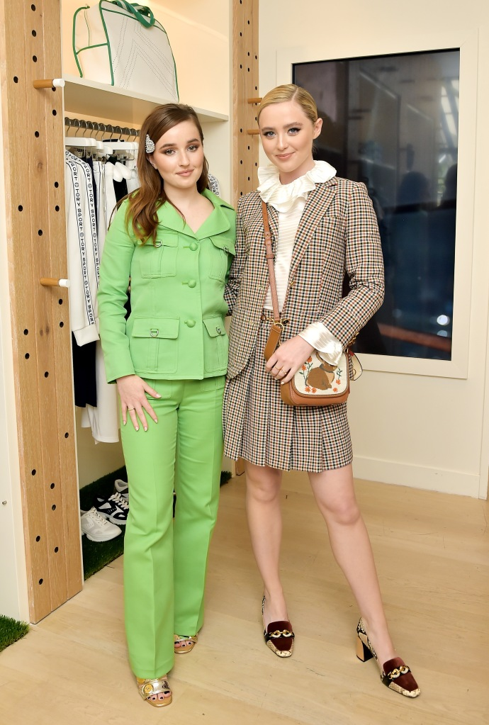 LOS ANGELES, CALIFORNIA - SEPTEMBER 20: Kaitlyn Dever (L) and Kathryn Newton attend Glamour x Tory Burch Women To Watch Lunch at Tory Burch Rodeo on September 20, 2019 in Beverly Hills, California. (Photo by Stefanie Keenan/Getty Images for Glamour x Tory Burch)