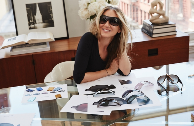 Sarah Jessica Parker in  a style from her collaboration with Sunglass Hut.