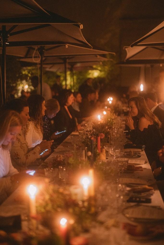 The scene at the Zimmermann dinner.