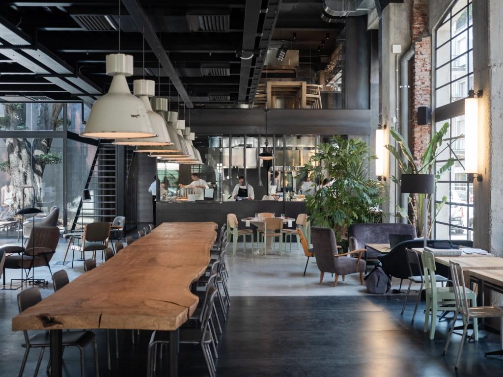 The Moebius restaurant in Milan.