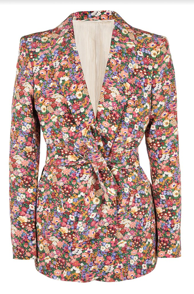 A blazer from the Aerin Lauder x Blazé Milano capsule collection.