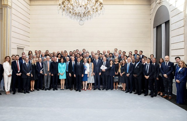 A meeting for the Fashion Pact was held at the French presidential palace.