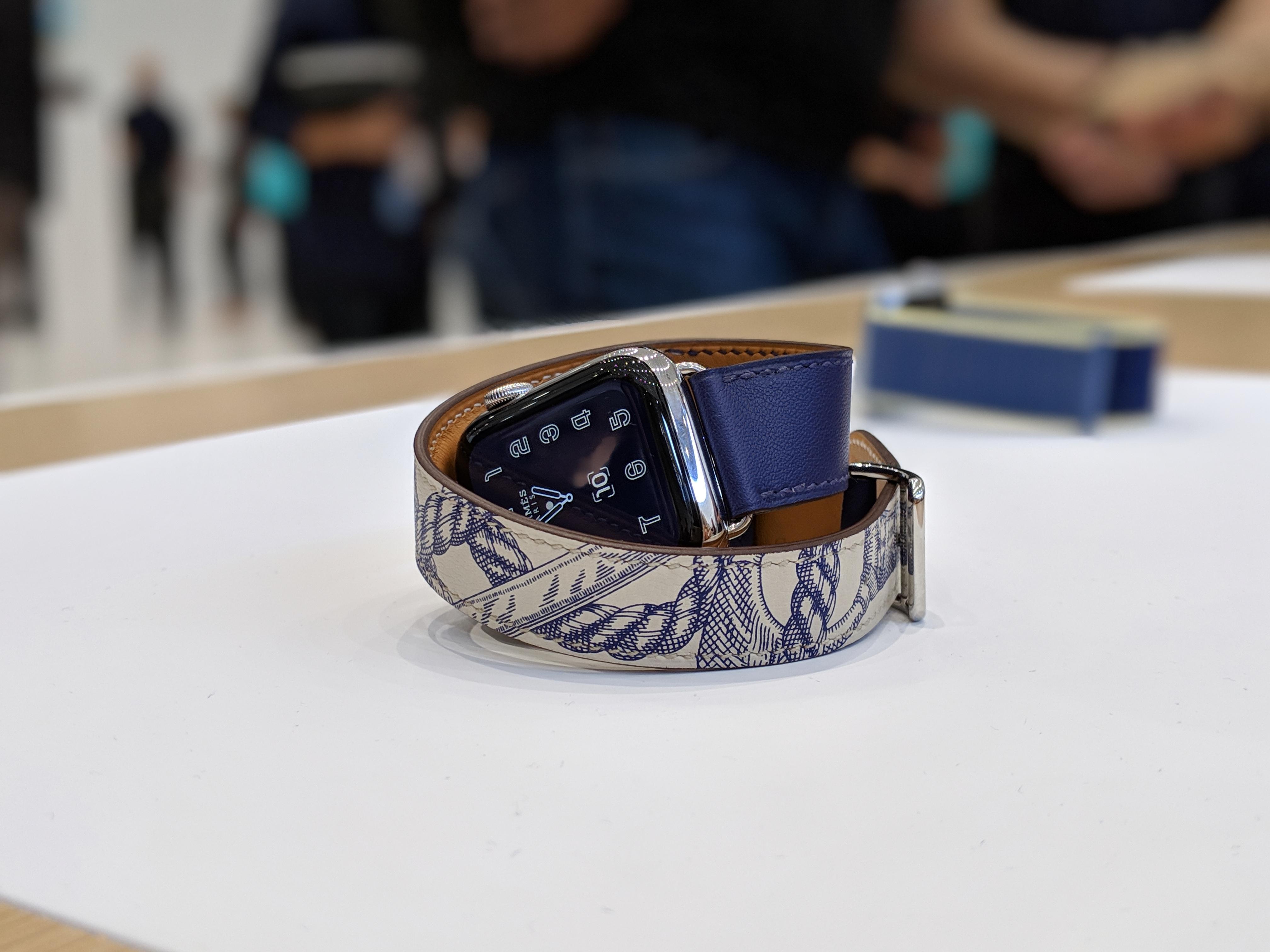 The latest version of Hermès' Apple Watch Series 5.