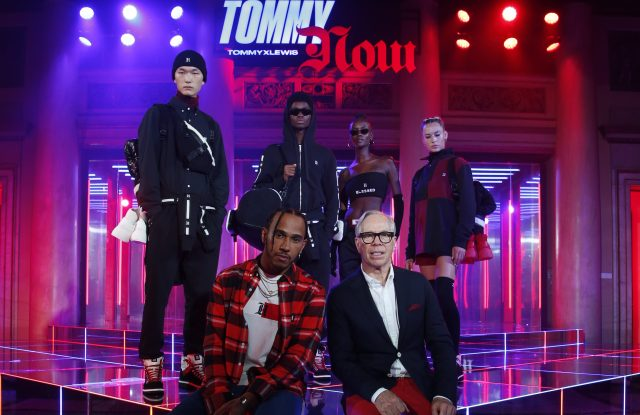 Lewis Hamilton and Tommy Hilfiger