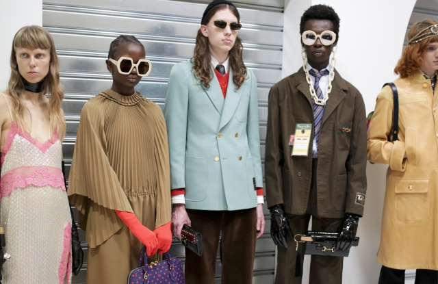 Backstage at Gucci RTW Spring 2020