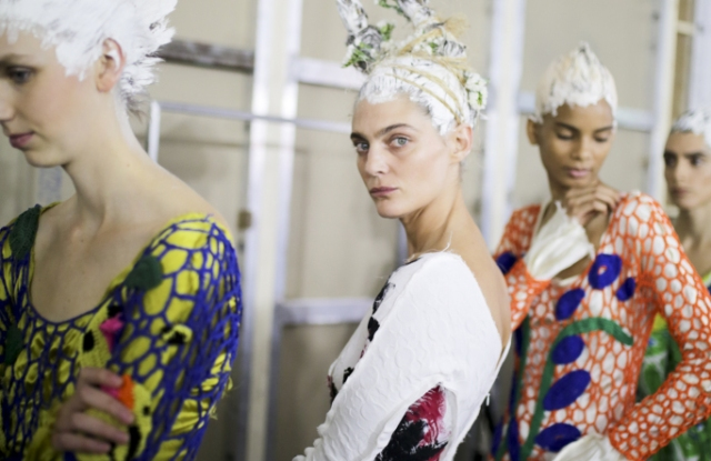 Backstage at Marni RTW Spring 2020