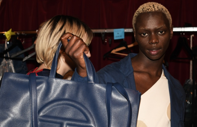 Backstage at Telfar RTW SS 2020, photographed in Paris on September 23, 2019.