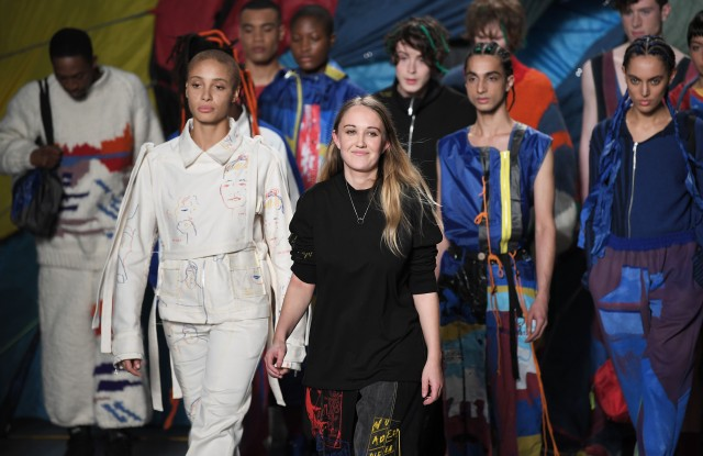 Fashion designer Bethany Williams on the catwalkBethany Williams show, Runway, Fall Winter 2019, London Fashion Week, UK - 19 Feb 2019