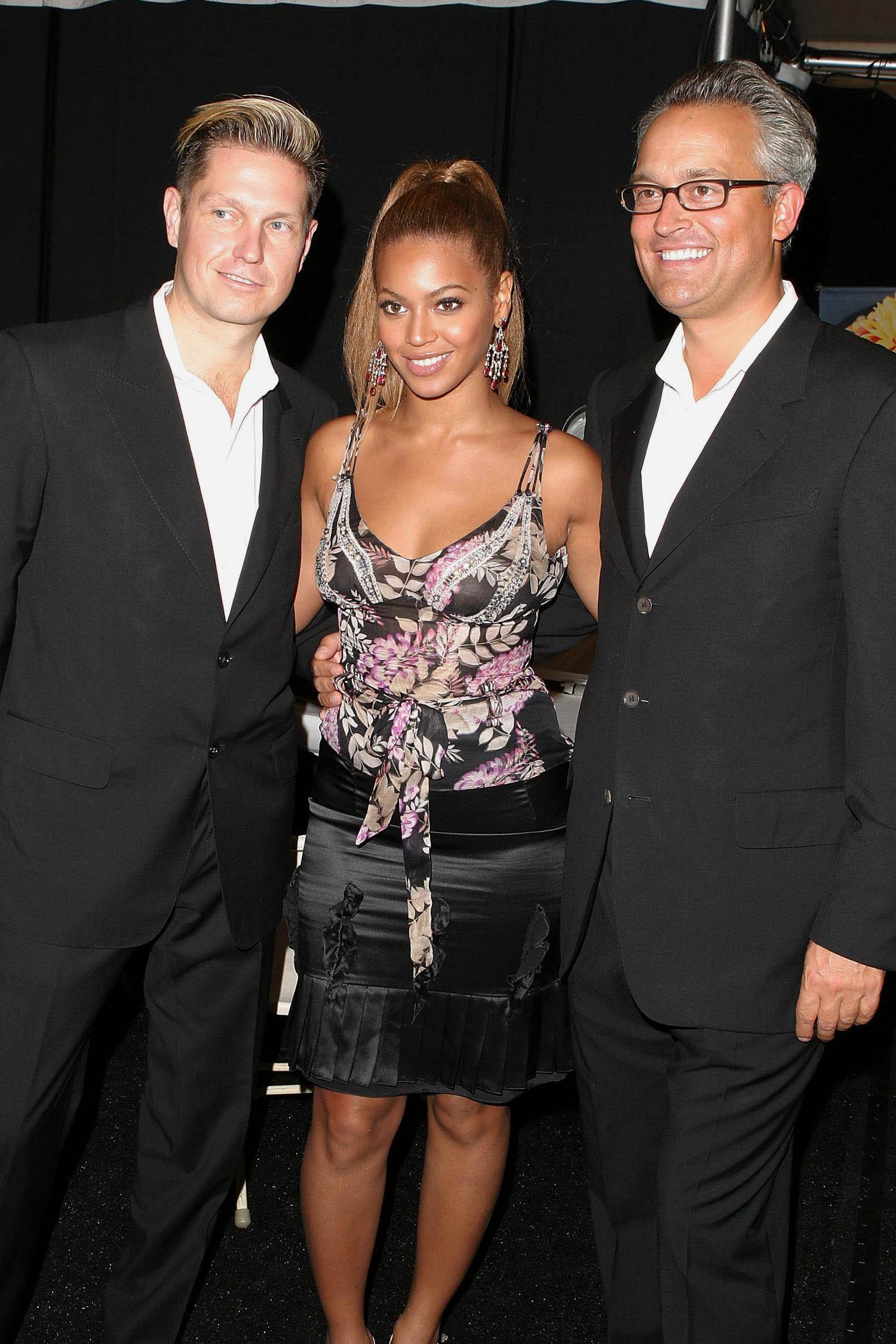 James Mischka, Beyonce Knowles and Mark MischkaBADGLEY MISCHKA SHOW FOR SPRING / SUMMER 2004, NEW YORK FASHION WEEK, AMERICA - 16 SEP 2003