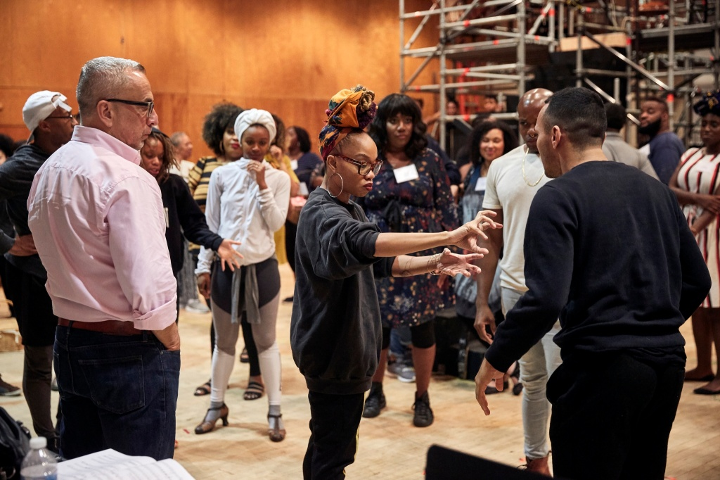 Camille A. Brown at a rehearsal of Porgy & Bess at the Met Opera.