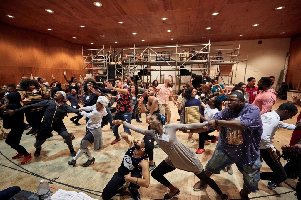 A rehearsal of Porgy & Bess at the Met Opera.