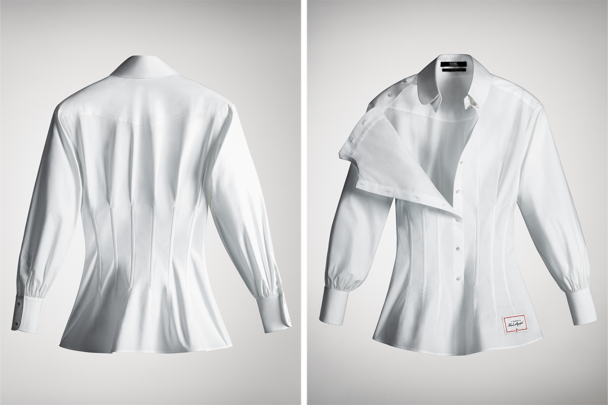 The shirt designed by Carine Roitfeld