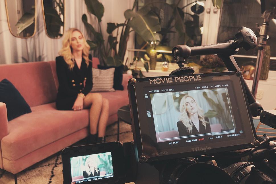 "Behind the scenes of the ""Chiara Ferragni — Unposted"" docu-film."