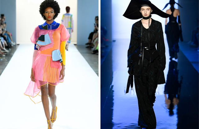 Looks by I-am-Chen, left, and Rizhuo.