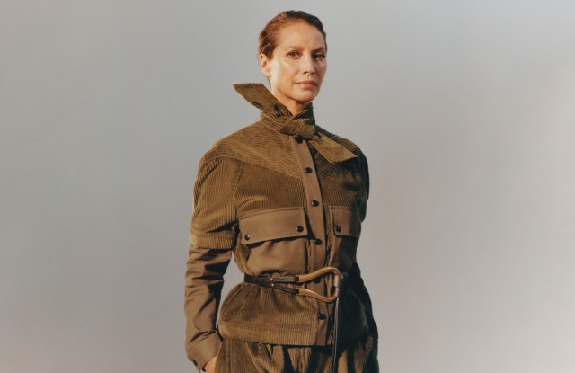 A visual from Matches' debut campaign featuring Christy Turlington Burns