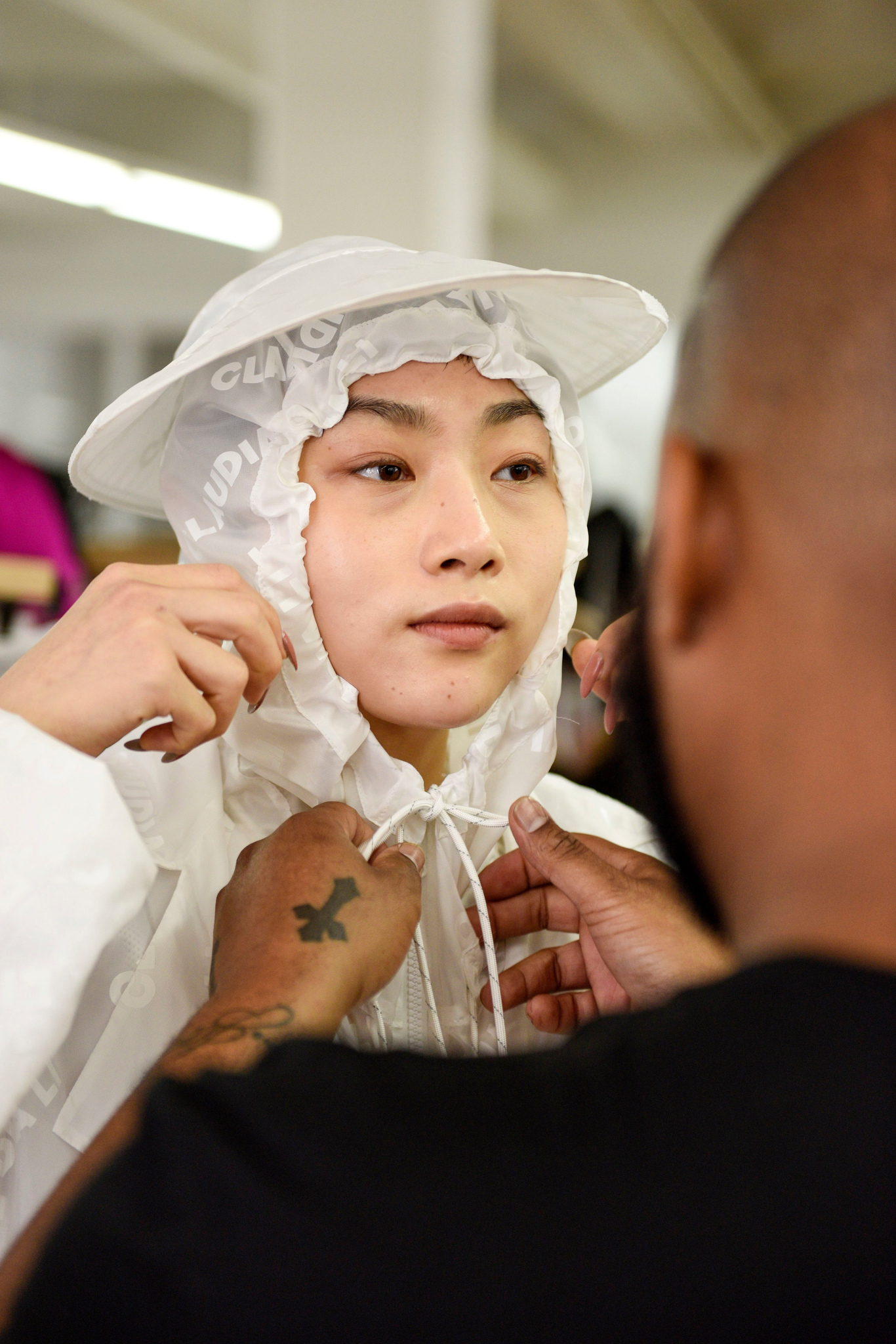 Backstage at Claudia Li RTW Spring 2020