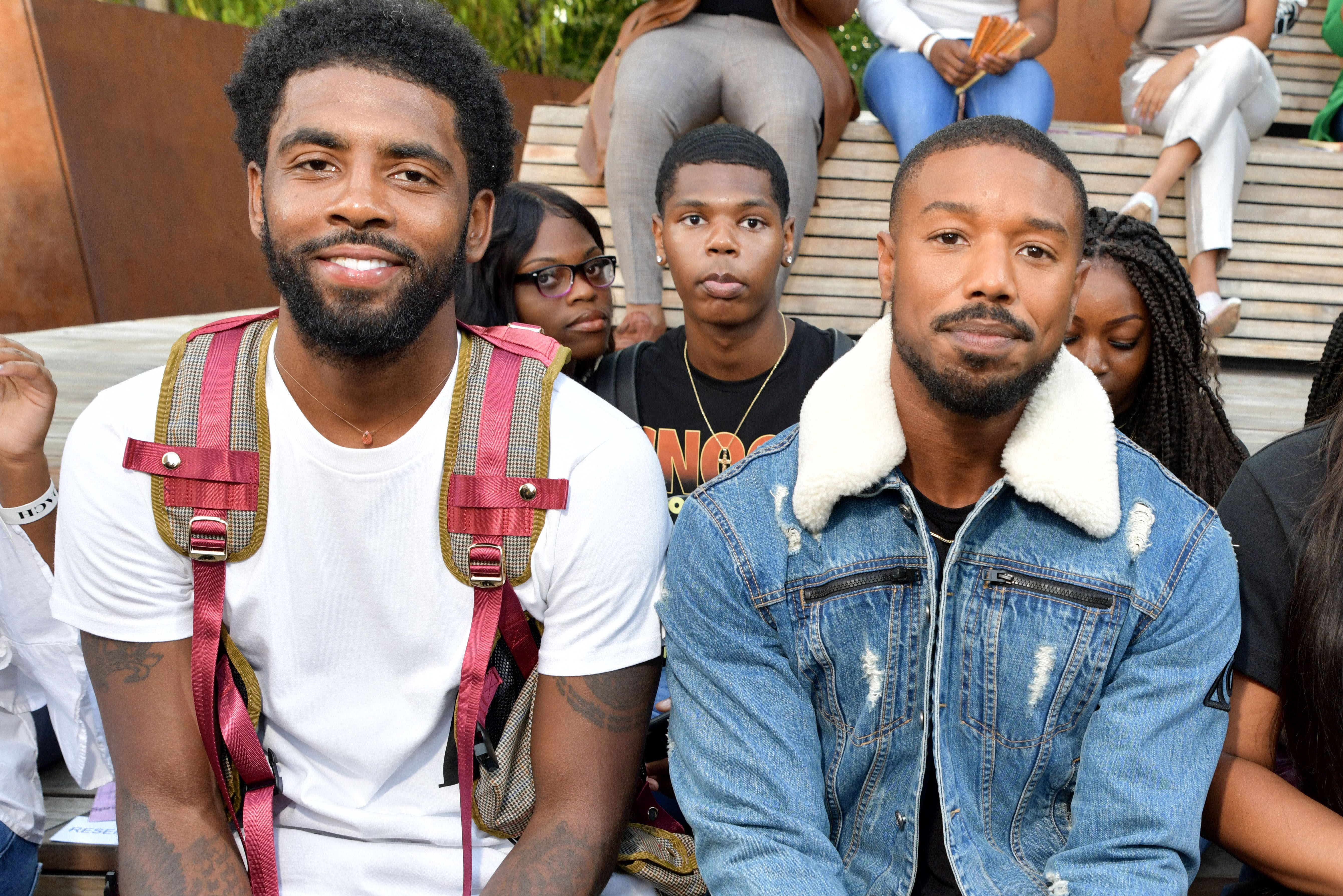 Kyrie Irving and Michael B. Jordan in the front rowCoach 1941 show, Front Row, Spring Summer 2020, New York Fashion Week, USA - 10 Sep 2019